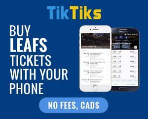 All Leafs home games at the tip of your fingers! Get our 5 star app and pay NO FEES, CAD$, Mobile Entry no printing