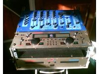 DJ EQUIPMENT OMNITRONIC OZONE CLUB MIXER CM 740 IN FLIGHT CASE