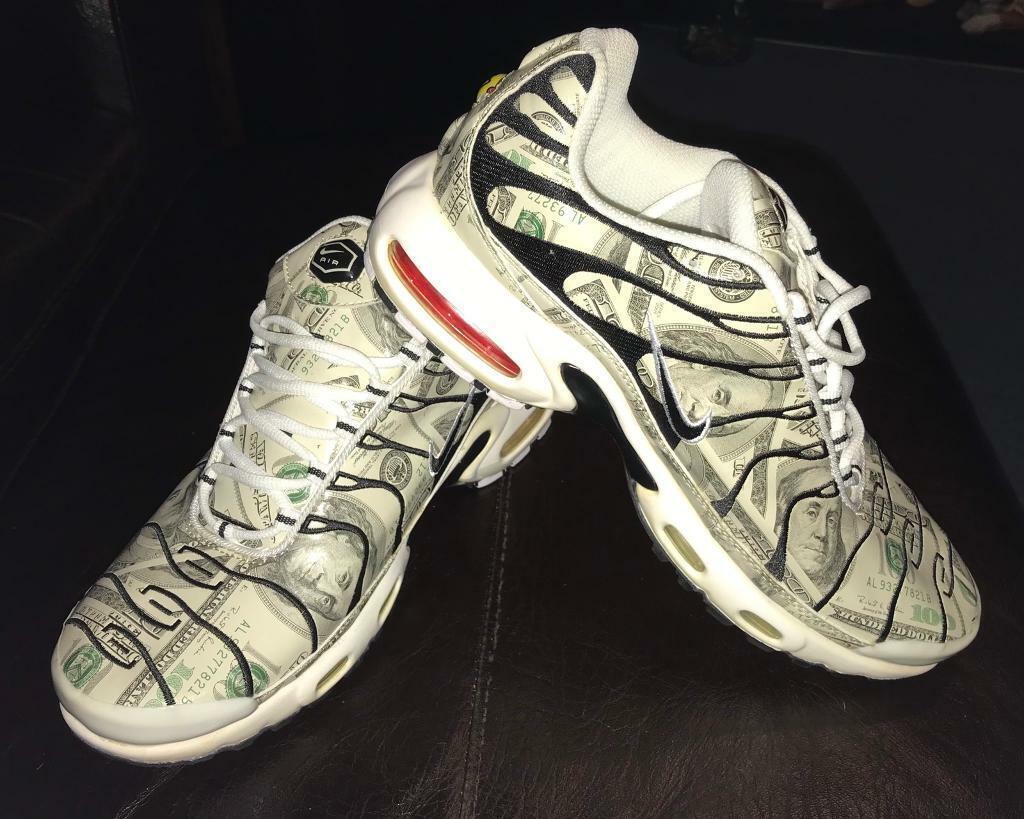 quality design c37bc 8c66b Vintage Nike TN Air Max Dollar Bill print trainers, size U.K. 8.5 rare | in  Torquay, Devon | Gumtree