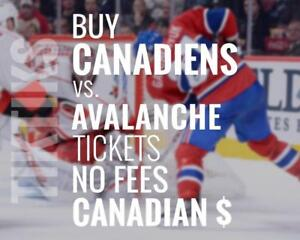 Canadiens vs Hurricanes Jan 25 tickets! We're like Ticketmaster/StubHub but no fees, CA$, cheaper. $10 off for kijiji