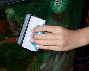 Magnetic Aquarium Fish Tank Glass Algae Scrubber Scraper Cleaner Floating Brush