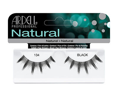 (2 Pairs Ardell Natural 134 Fashion Lash Fake Eyelashes Black)