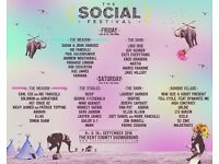 The social 2x weekend tickets