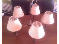 2 Marks & Spencer Brass 5 shade ceiling lights