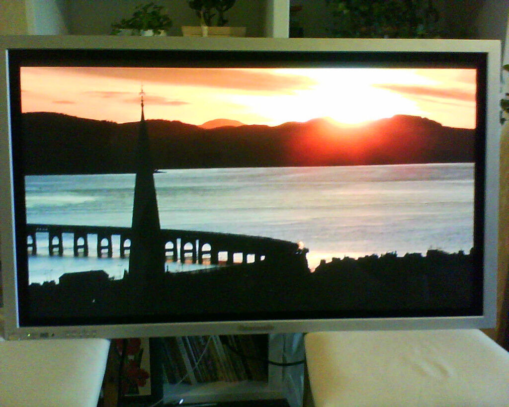 Panasonic TH-42PW7 42 inch plasma monitor. Display, advertising, large, commercial, business.