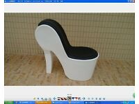 DISNEY PRINCESS HIGH HEEL SHOE CHAIR - BRAND NEW IN BOX