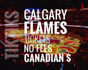Calgary Flames Tickets - All Home Games - Easy to understand pricing because, NO FEES and in Canadian Dollars!