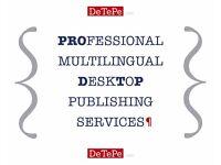 Professional Multilingual Desktop Publishing Services - DTP service