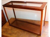Large mahogany vintage display case antique shop haberdashery apothecary trophy taxidermy model