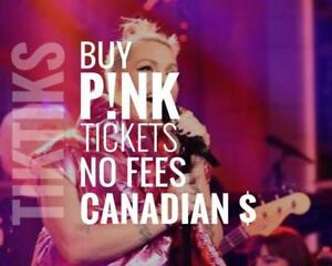 Pink Concert tickets We're like StubHub/Vivid but cheaper, NO FEES, CA$, 5% off special