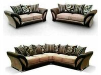 💛💛CASH ON DELIVERY💛💛 FABRIC & FAUX LEATHER LEFT / RIGHT CORNER | 3 2 SEATER GREY