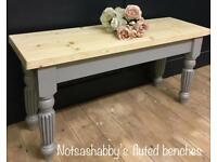 3FT SOLID NEW HANDMADE PINE FARMHOUSE BENCH