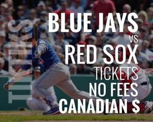 Blue Jays vs Red Sox Tickets! Aug 7 - 9 No fees, CAD$ and cheaper than StubHub/Ticketmaster! 5% off for new customers