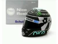 F1 Formula 1 Nico Rosberg minature helmet