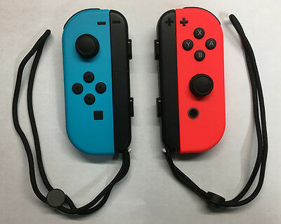 Genuine Nintendo Switch - Joy-Con (L/R)- Neon Blue (L) Neon Red (R) - UD