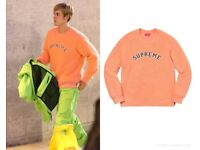Supreme Coral Sweatshirt - Authentic - Worn once / Excellent Condition