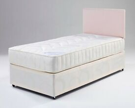 🔴BRAND NEW FURNITURE🔵 (3ft) Single Size Divan Bed Base With Opt Mattress- Order Now