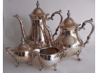 Vintage Silver Plated Coffee and Tea Set
