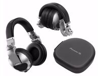 PIONEER HDJX10S & HDJX10K Pro DJ 50mm Headphones with Swivel Ear Silver / Black