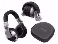 PIONEER HDJX10S & HDJX10K Pro DJ 50mm Headphones with Swivel Ear Silver / Black