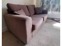 Comfortable two-seater sofa bed