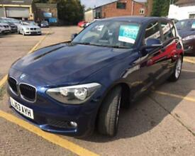 BMW 1 SERIES 1.6 116D EFFICIENTDYNAMICS 5d 114 BHP ONE OWNER FS (blue) 2013