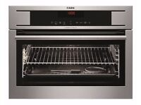 BRAND NEW AEG Competence KP8404001M Electric Convection Single Oven - Built-In