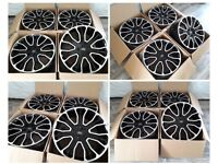 "HT954* NEW 21"" INCH ALLOYS ALLOY WHEELS RANGE ROVER SPORT VOGUE DISCOVERY AUTOBIOGRAPHY ELARA BLACK"