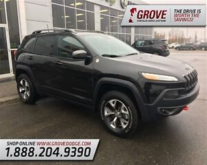 2016 Jeep Cherokee Trailhawk w/ Heated Leather Seats, 4X4, Sunro