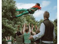 Performers for Hire - Two Left Feat acrobatic troupe. Corporate Entertainers & Childrens Party