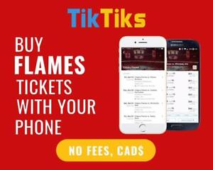 100% Verified Flames tickets for all home games! Safe and secure transactions, all in CAD!