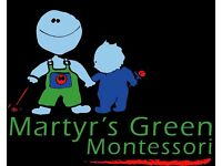 Nursery Nurse / Montessori Teacher at Red Balloon / Martyrs Green