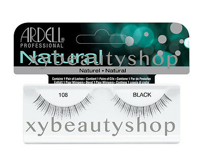 40 Pairs Ardell Natural 108 Fashion Lash Fake Eyelashes Black