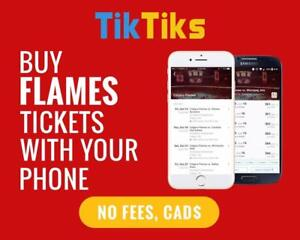 All Flames home games at the tip of your fingers! Get our 5 star app and pay NO FEES, CAD$, Mobile Entry no printing