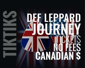 Def Leppard Journey Tickets! Oct 1st We're like Ticketmaster/StubHub but no fees, CA$, cheaper, five star CDN company