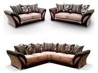 SAME DAY DELIVERY === Brand New SHANNON Corner Or 3 + 2 Sofa,SWIVEL CHAIRS, Universal corner Sofa