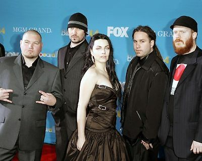 Evanescence Rock Band 8X10 Glossy Color Photo Amy Lee