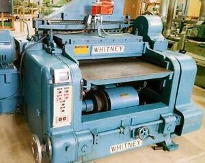 Whitney S-370 Single Head Surface Planer 50HP, 460 3PH