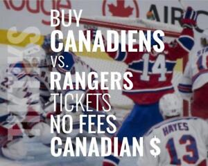 Habs vs Rangers Feb 22 tickets! We're like Ticketmaster/StubHub but no fees, CA$, cheaper. $10 off for new customers