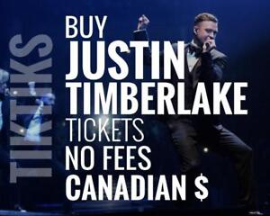 Justin Timberlake Concert tickets We're like StubHub/Vivid but cheaper, NO FEES, CA$, 5% off special