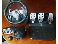 Logitech G25 Steering Wheel, Pedals, Gear Shifter For Playstation & PC