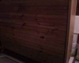 solid pine book case h38ins L34ins very good condition pick up only unless local.