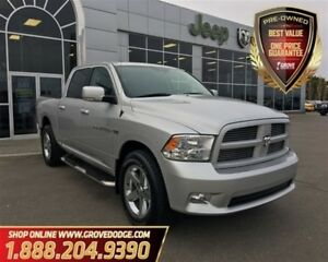 2012 Ram 1500 Sport| Leather/Cloth| 4X4| Low KM
