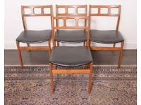 Set of four mid-century Danish dining chairs DELIVERY AVAILABLE