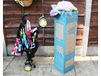 Cosatto Supa Stroller Pixelate + changing bag + raincover + footmuff