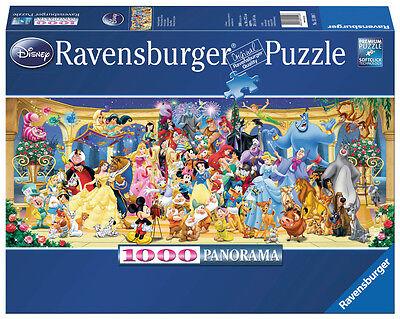 1000 Teile Ravensburger Puzzle Panorama Disney Gruppenfoto 15109