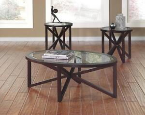 *** USED *** ASHLEY SLEFFINE COFFEE/END TABLES   S/N:304872   #STORE614