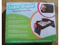 Children's Snack N Play Car Seat Travel Tray & Carry Bag Set by Supa-Dupa