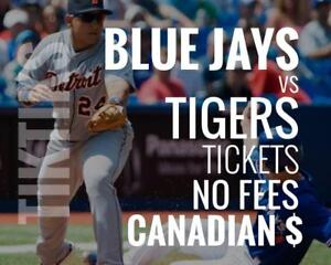 Blue Jays vs Tigers Tickets! June 29 - July 2 No fees, CAD$ and cheaper than StubHub/Ticketmaster! Canada Day Series!