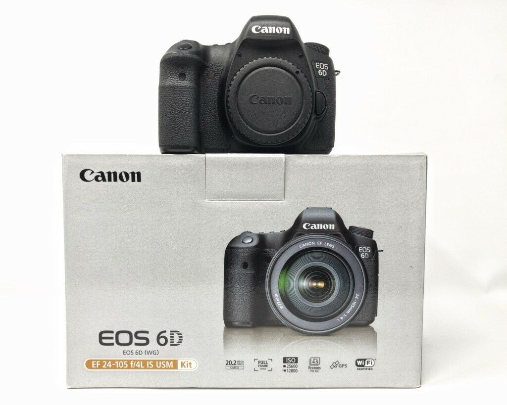 Canon EOS 6D 20.2MP DSLR FULL Frame Camera - Black WG WiFi- Body ...